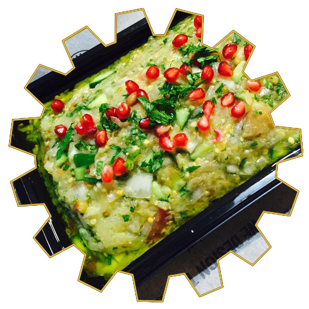 eggplant salad 4 portions