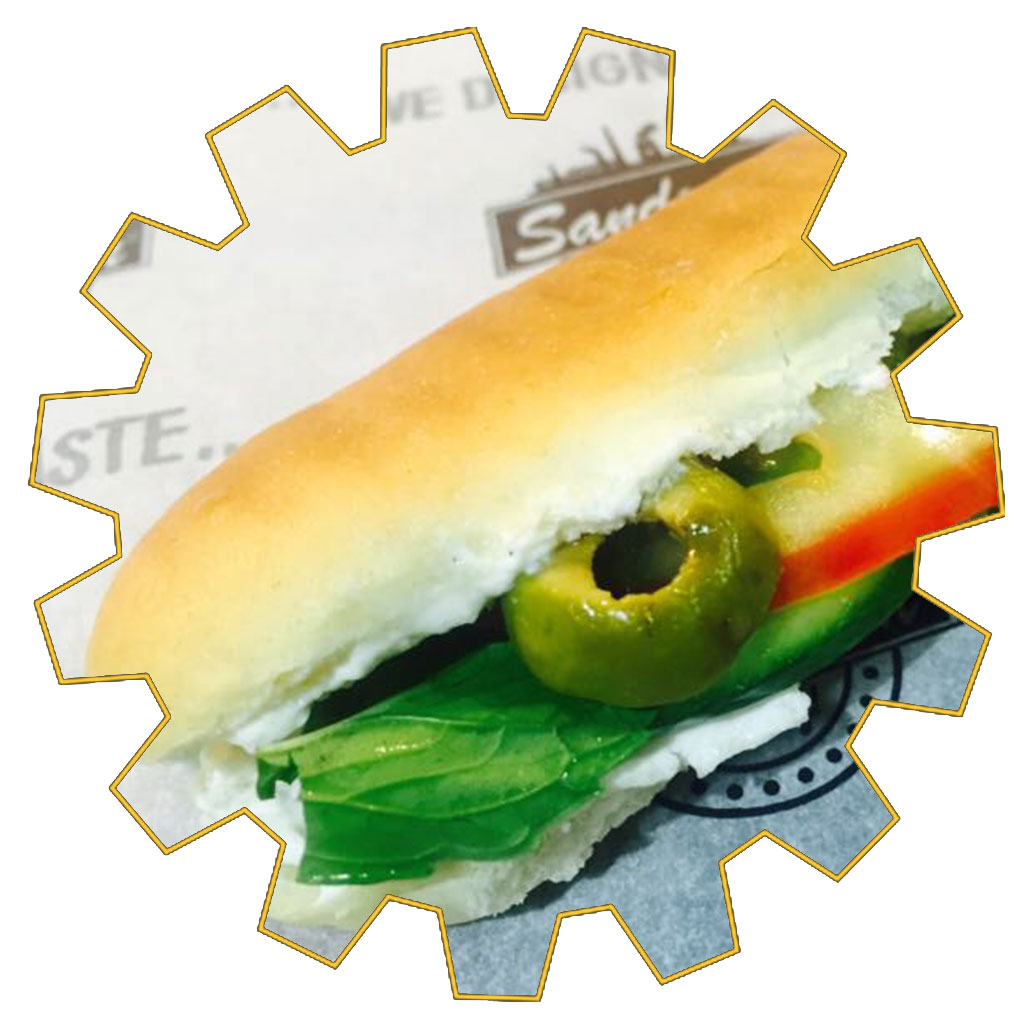 mini labneh sandwich