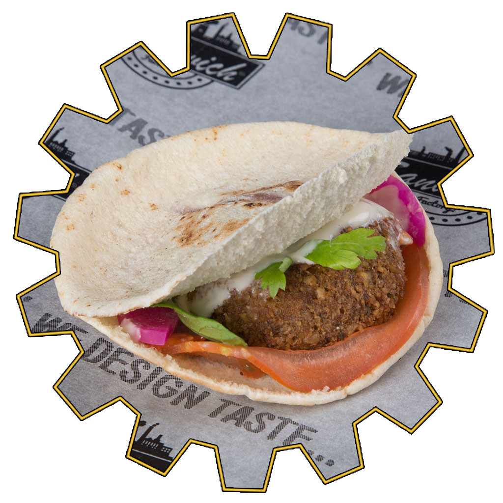 mini falafel sandwich