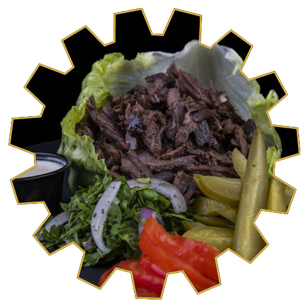 iceberg meat shawarma wrap