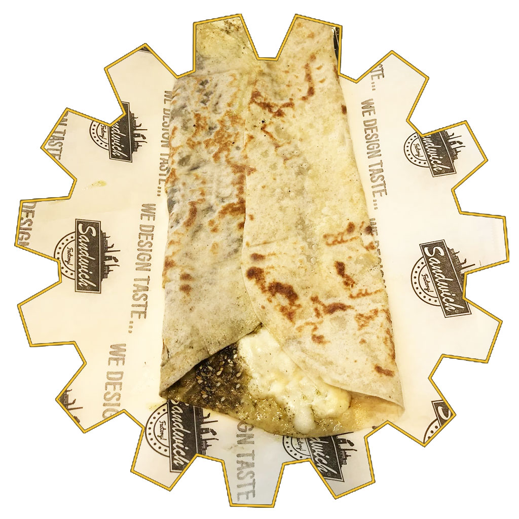 zaatar and cheese saj